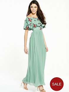 little-mistress-petite-multi-embroidered-bardot-maxi-with-belt