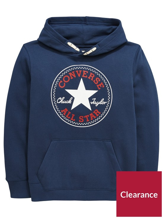 Converse Boys Core Fleece Overhead Hoodie - Navy  49765040a