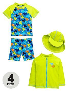 mini-v-by-very-toddler-boys-fish-50-upf-sunsafe-set-4-piece