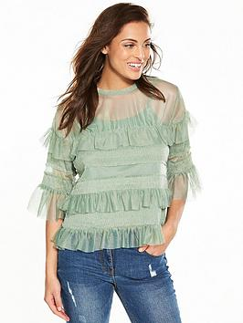 v-by-very-mesh-frill-top-mint-greennbsp