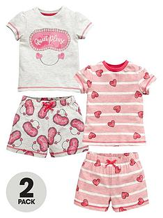 mini-v-by-very-toddler-girls-quiet-please-and-heart-shortie-pyjamas-2-pack