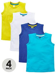 mini-v-by-very-toddler-boys-4pk-solid-tanks