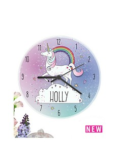 personalised-unicorn-clock