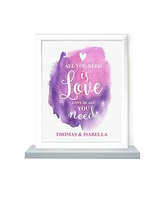 personalised-all-you-need-is-love-poster