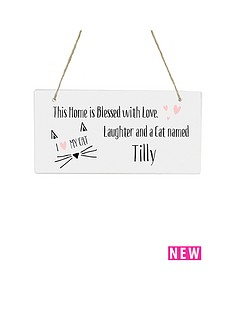 personalised-039this-home-is-blessedhellipcat039-wooden-hanging-plaque