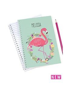 personalised-flamingo-notebook
