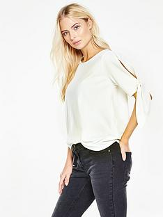 v-by-very-tie-sleeve-t-shirt