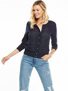 v-by-very-pointelle-button-up-cardigan-navynbsp