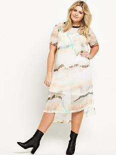 ri-plus-marble-print-dress-white