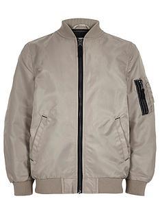 river-island-boys-stone-bomber-jacket
