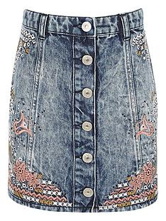 river-island-embroidered-denim-skirt