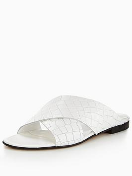 dune-london-labrinthnbspcroc-flat-slider-white