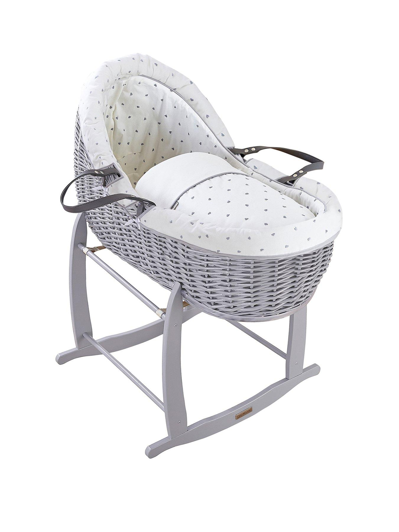 Moses Basket Foam Mattress Bassinet Baby PRAM Oval Fully Breathable Quilted Size 80 X 39 X 3.5 cm