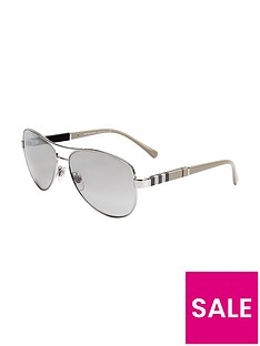 burberry-aviator-style-sunglasses-silver