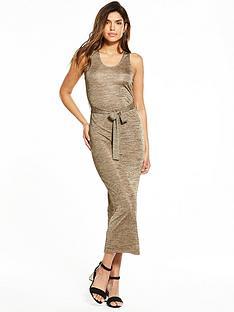 v-by-very-metallic-tie-waist-midi-dress