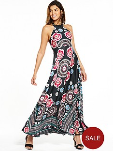 v-by-very-placement-print-halter-maxi-dress