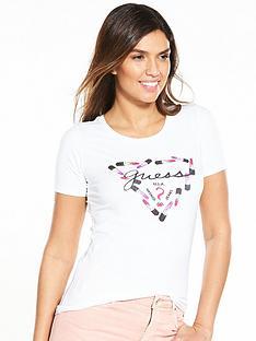 guess-lipstick-logo-tee