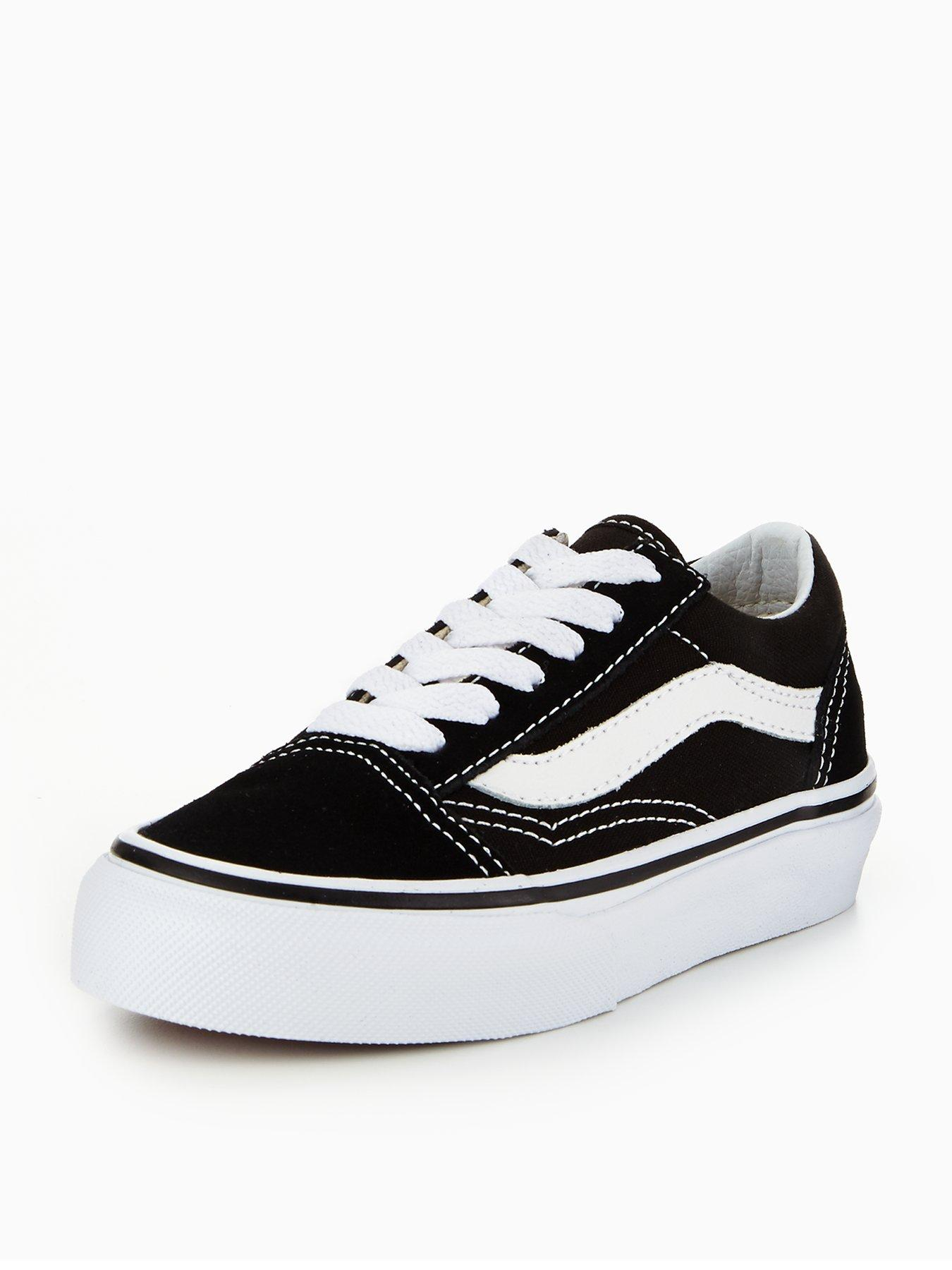 black old skool vans junior