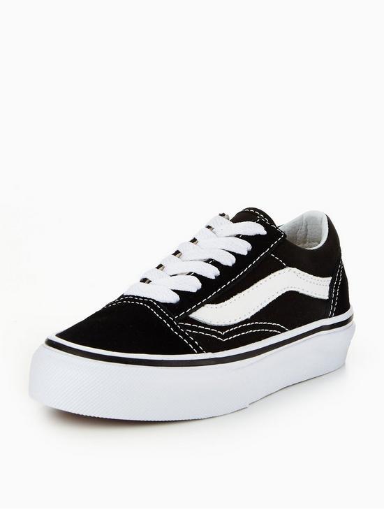 7e03cb92bc80d2 Vans Old Skool Childrens Trainer - Black white