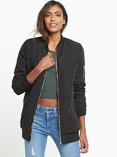 miss-selfridge-longline-bomber