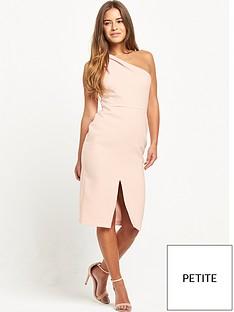 miss-selfridge-petite-one-shoulder-midi-dress-blush