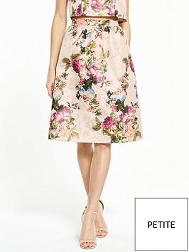 miss-selfridge-petite-jacquard-midi-skirt-ndash-gold