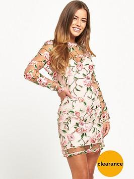 miss-selfridge-petite-rose-long-sleeve-dress