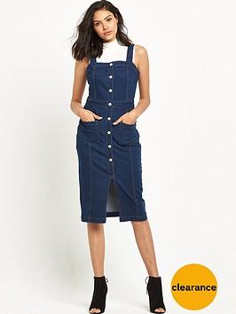 miss-selfridge-fitted-pencil-denim-dress