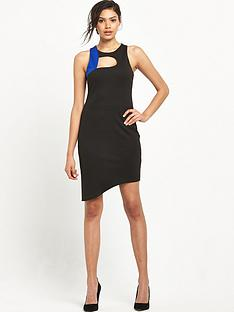 miss-selfridge-colourblock-curve-hem-dress
