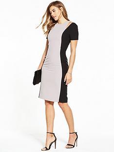 miss-selfridge-miss-selfridge-colourblock-cutout-shoulder-pencil-dress