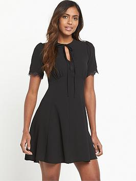 miss-selfridge-lace-tea-dress-black