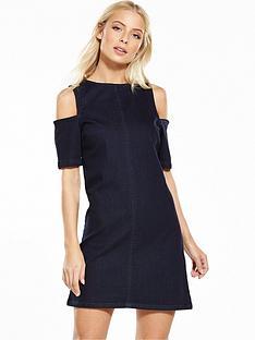 miss-selfridge-cold-shoulder-denim-dress