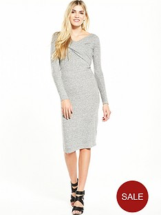 miss-selfridge-cross-front-midi-dress