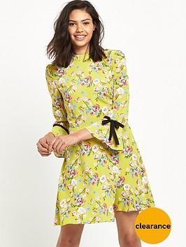 miss-selfridge-floral-collar-dress