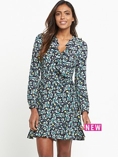 miss-selfridge-floral-wrap-ruffle-dress