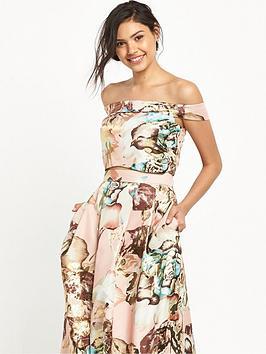 miss-selfridge-floral-jacquard-cropped-top