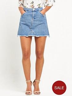 miss-selfridge-petite-denim-skirt