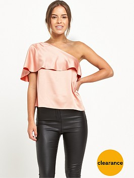 miss-selfridge-petite-one-shoulder-blouse-nudenbsp--available-from-size-4-14