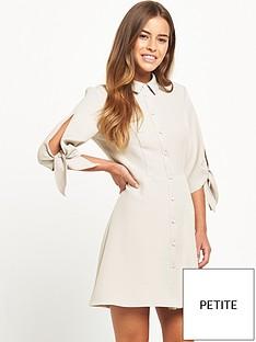 miss-selfridge-petite-shirt-dress-grey