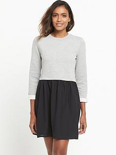 miss-selfridge-chiffon-sweat-mix-dress