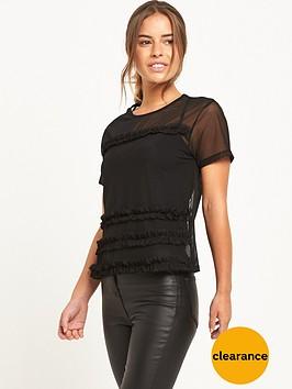 miss-selfridge-petite-mesh-top-black