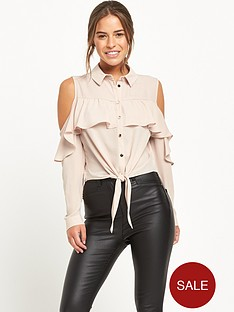 miss-selfridge-petite-cold-shoulder-shirt-blush-available-from-size-4-14