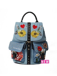 river-island-embroidered-amp-stud-detail-backpack