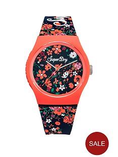 superdry-superdry-urban-ditsy-navy-floral-printed-dial-navy-floral-printed-silicone-strap-ladies-watch