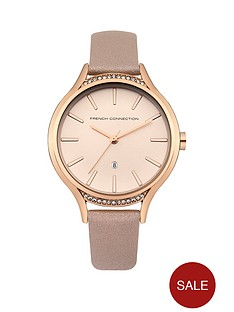 french-connection-french-connection-matt-rose-dial-nude-pearlised-leather-strap-ladies-watch