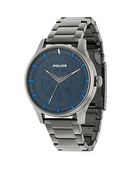 police-jet-blue-dial-stainless-steel-bracelet-mens-watch