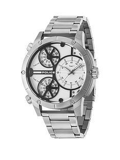 police-rattlesnake-white-multidial-stainless-steel-bracelet-mens-watch