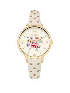 cath-kidston-cath-kidston-mallory-bunch-off-white-photo-printed-dial-cream-amp-gold-spot-strap-ladies-watch