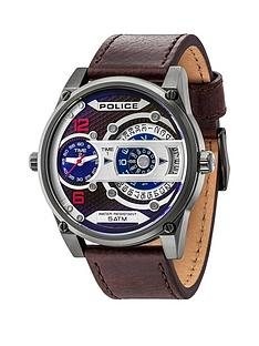 police-d-jay-black-multi-dial-brown-leather-strap-mens-watch