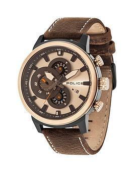 police-exploer-cream-multidal-brown-leather-strap-mens-watch